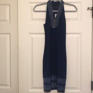 New WHBM jersey style navy dress, XXS